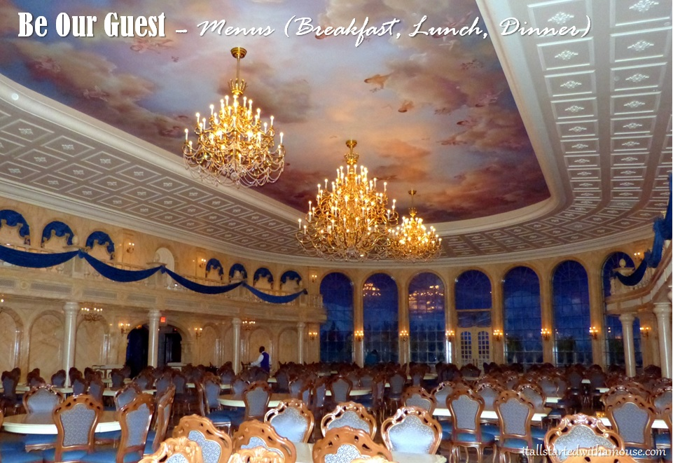 Be Our Guest Menus