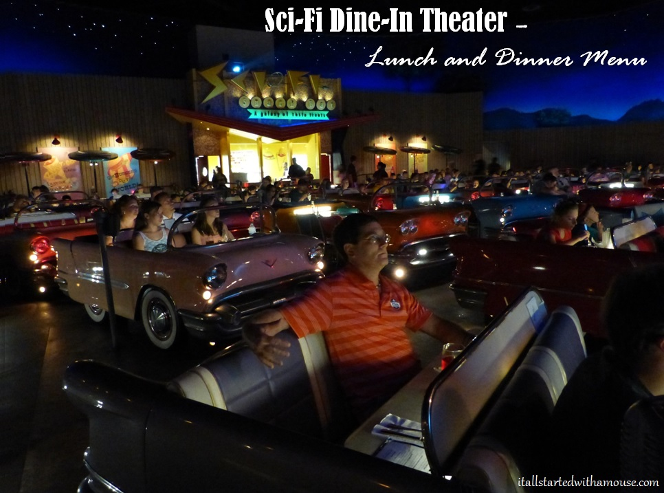 Sci Fi Dine In Menu