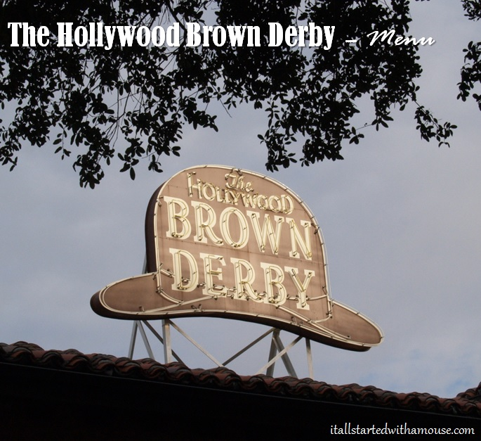 Hollywood Brown Derby Menu
