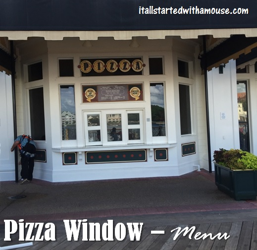 Pizza Window Menu