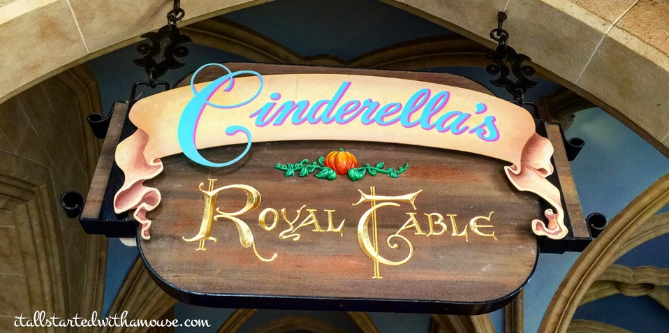 Cinderella's Royal Table #itallstartedwithamouse